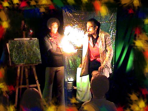 C'est la fete de noel avec l'animation du magicien PACA sur aix, marseille, les bouches du Rhone et la PACA